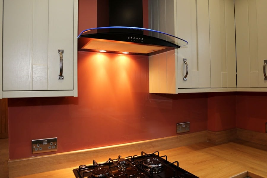 Burnt Orange Glass Splashback