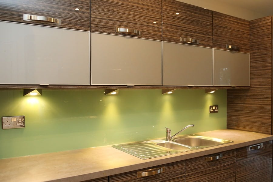 Leafy Green Kitchen Splashback Glass Splashbacks Pro Glass 4