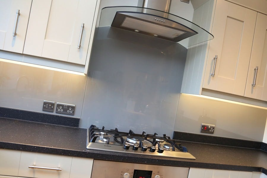 Kitchen hood for home - Manor House Grey Splashback Glass Splashbacks Pro Glass 4