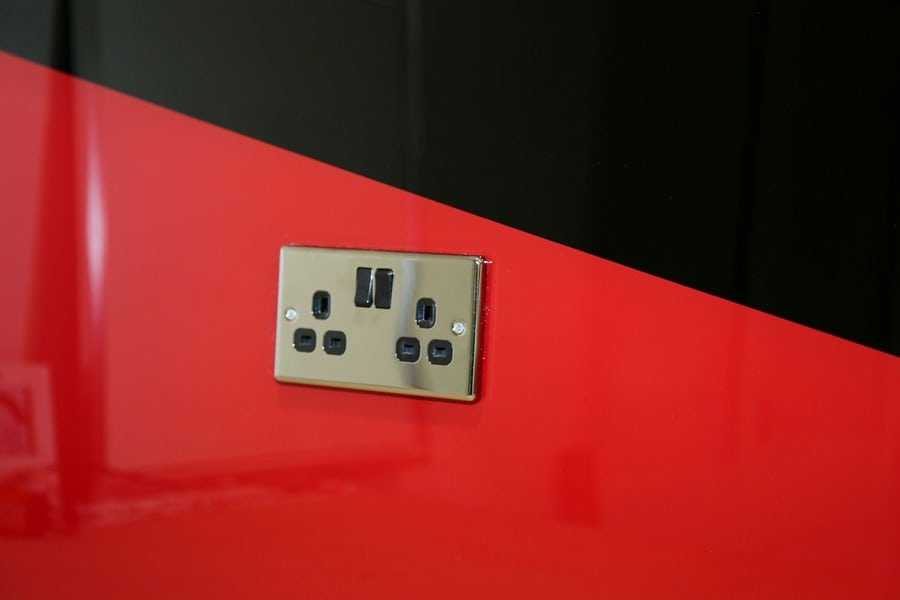 Black & Red Splashback