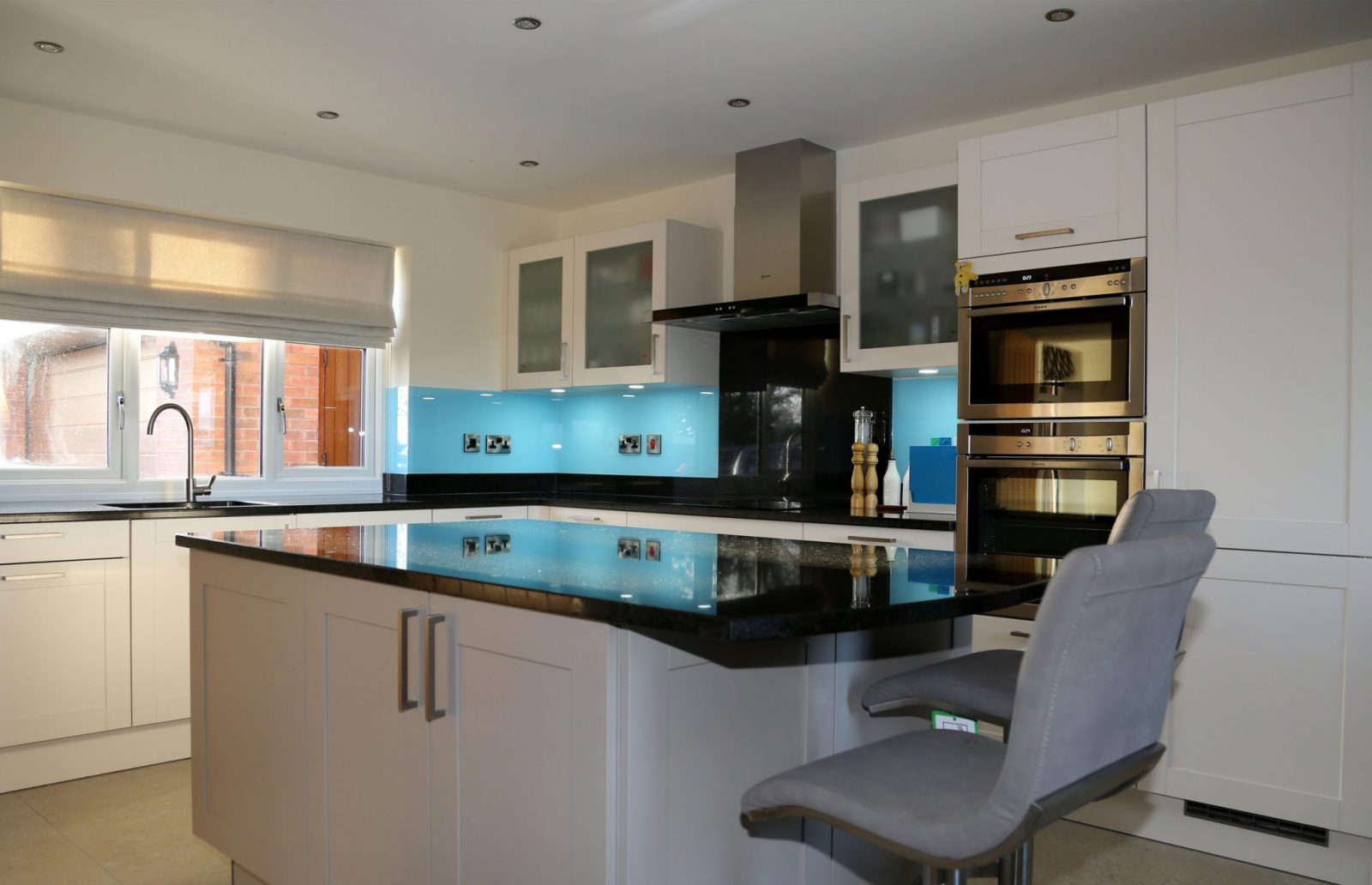 Azure Blue Kitchen Splashback