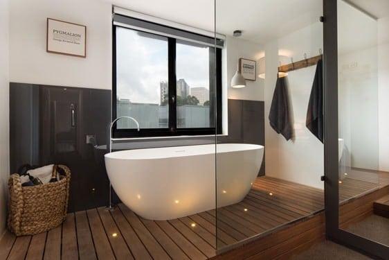 Glass Panels Bathroom
