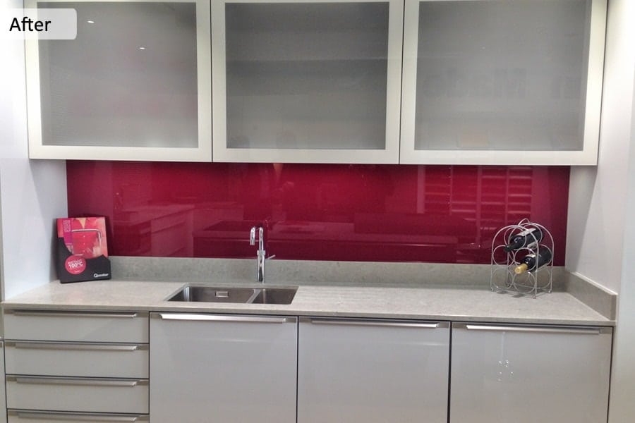 Farrow & Ball Radicchio Glass Splashback