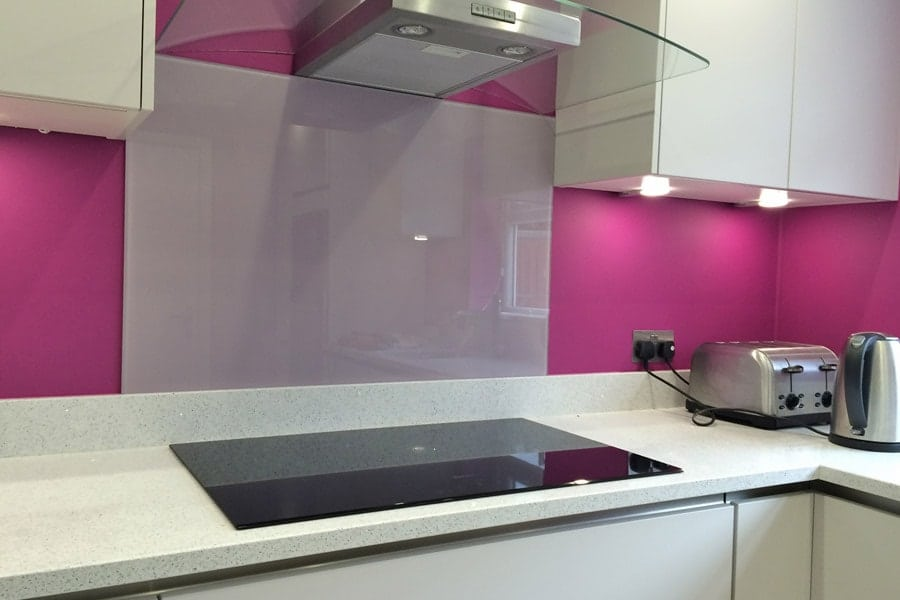 Heather Orchid Glass Splashback Glass Splashbacks