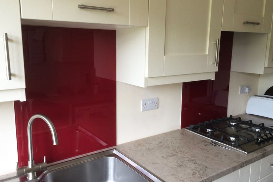Farrow & Ball Radicchio Dual Glass Splashbacks