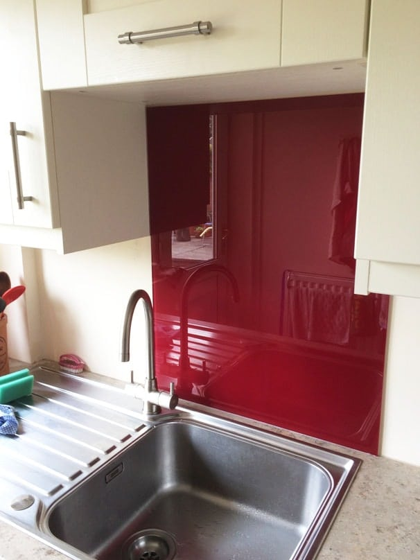Glass Splashback Fitted in Cheshire