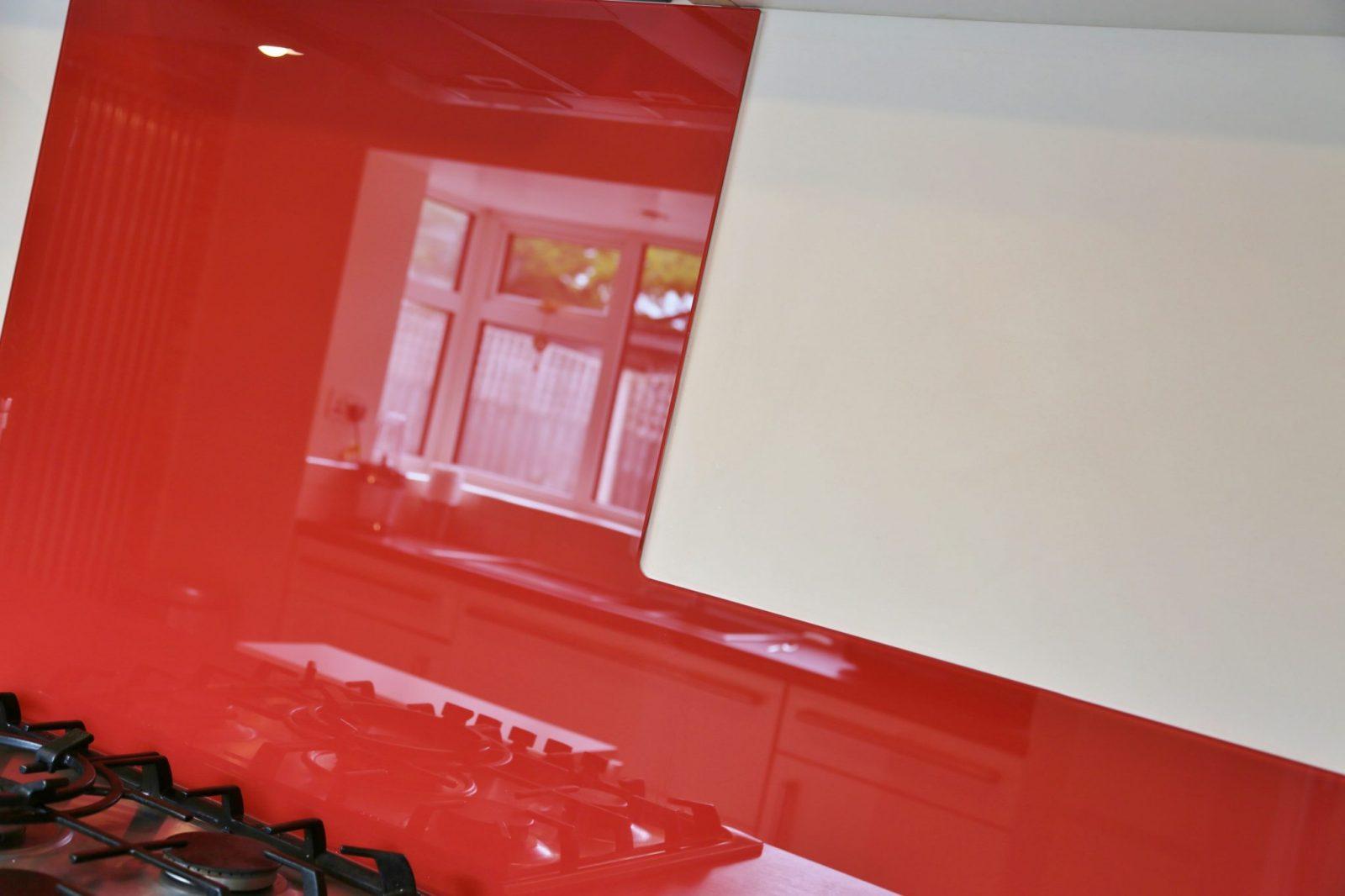Kitchen Glass Splashback In Farrow & Ball Paint