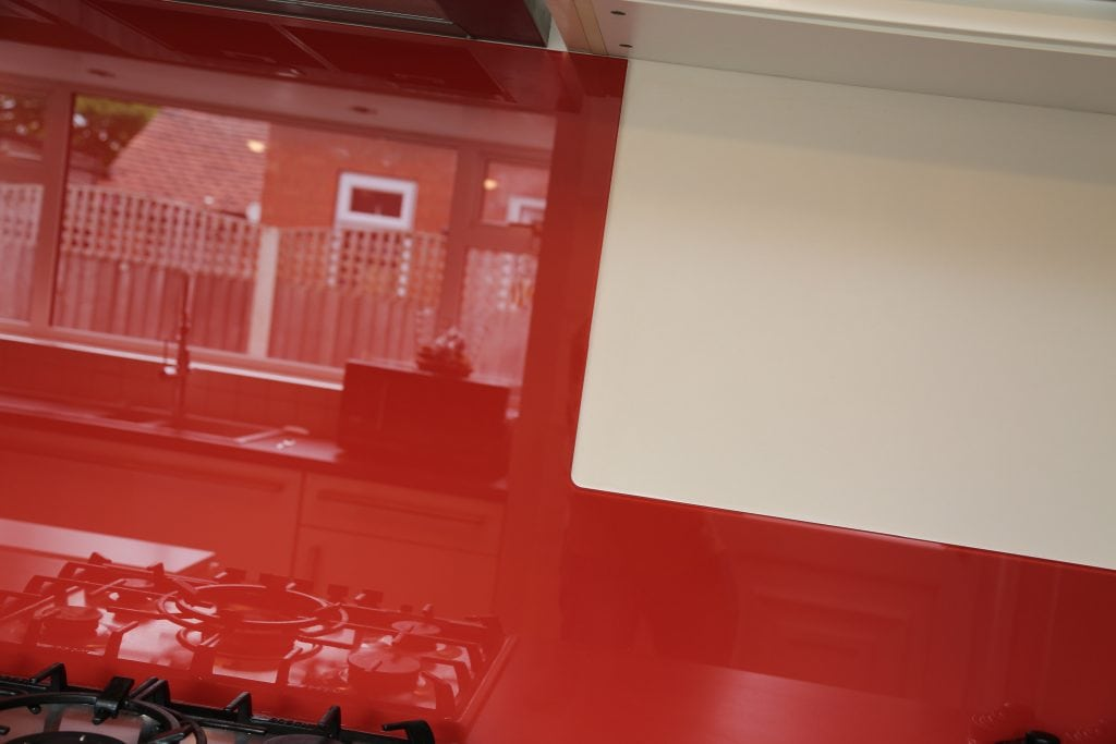 Full Glass Splashback Notch Cut