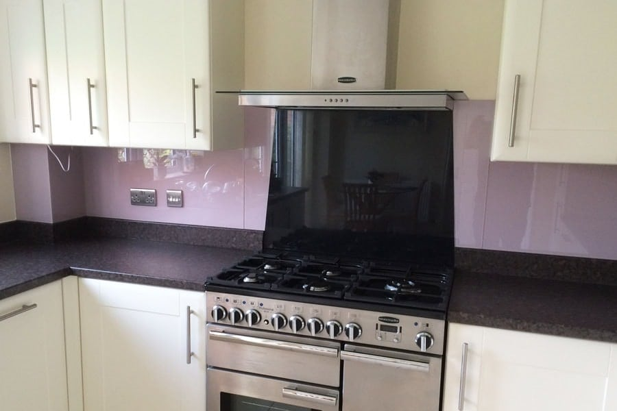 Dulux Dusted Fondant Glass Splashback