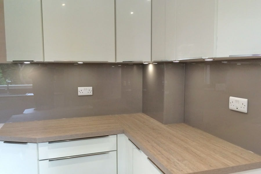 Grey Glass Splashback Kitchen