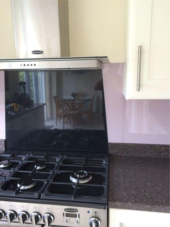 Dulux Dusted Fondant Glass Splashback Glass Splashbacks