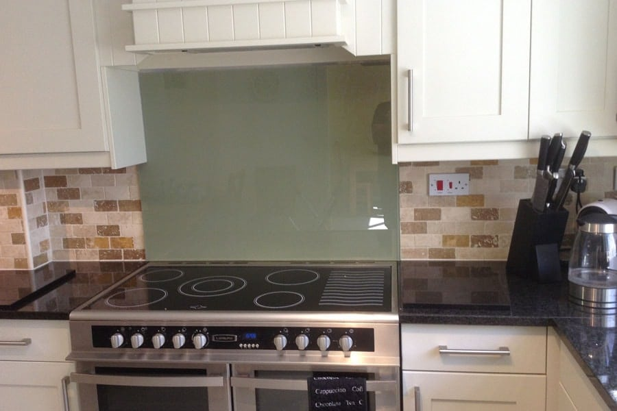 Glass Splashback Fitted On Top Of Kitchen Tiles Glass