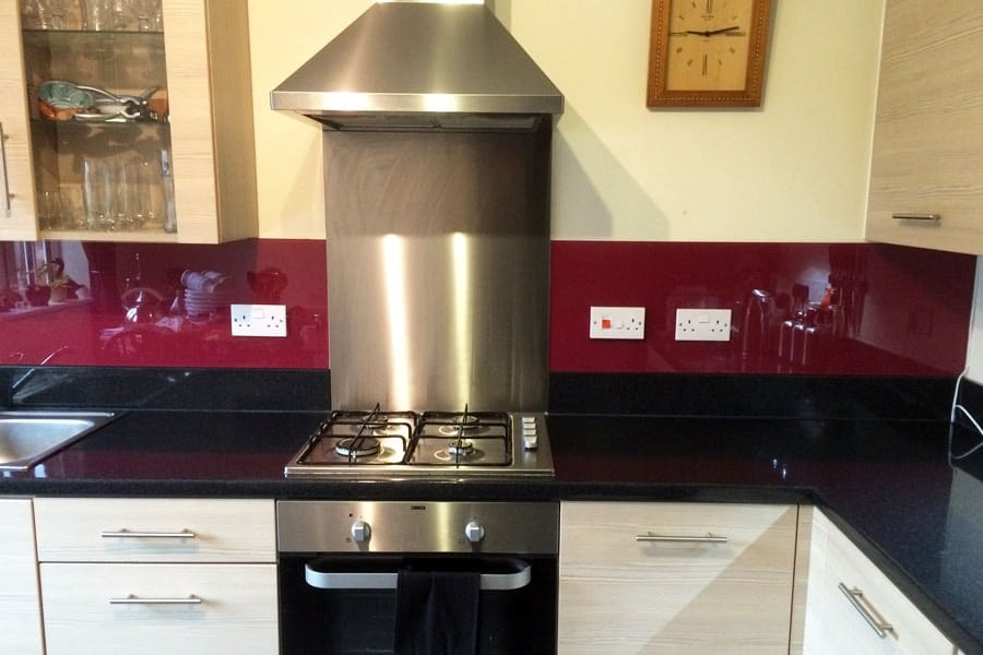 Farrow & Ball Radicchio Glass Splashbacks