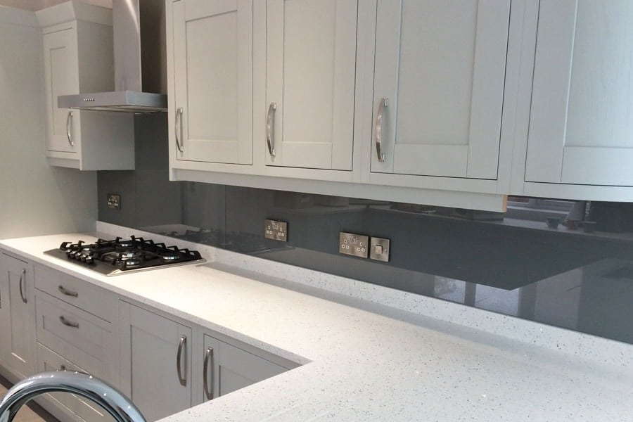 Black & Grey Glass Splashbacks