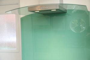 hob glass splashback cut to shape