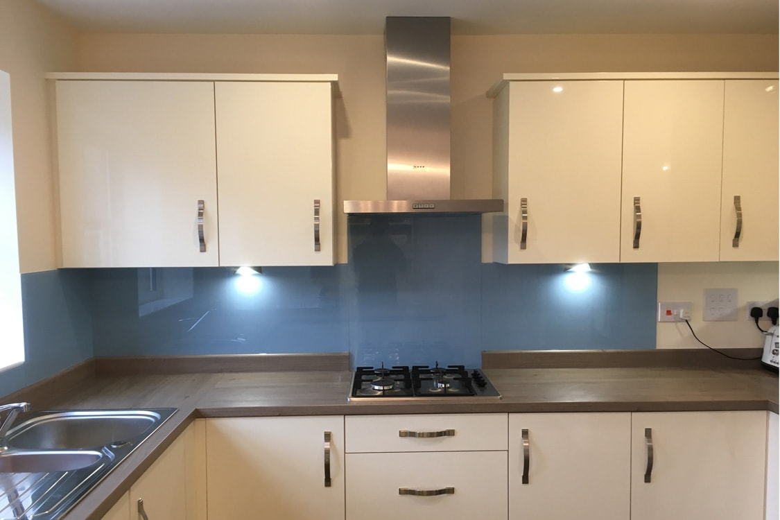farrow and ball lulworth blue glass splashback