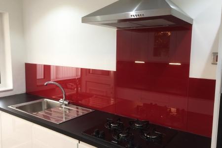 Wine Red Glass Splashback