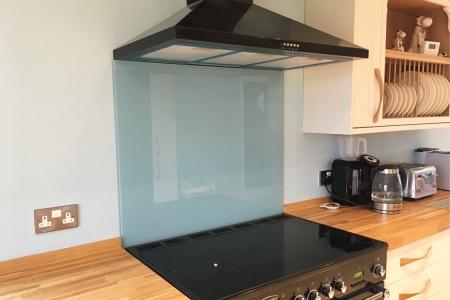 Farrow & Ball Blue Ground No.210 Glass Splashback