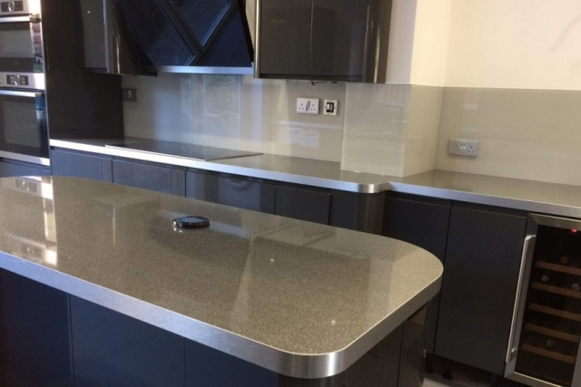 pavilion gray from farrow and ball glass splashback