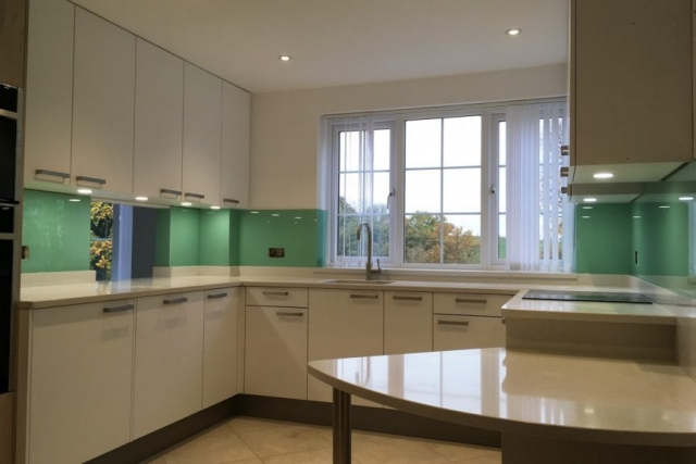 pure mint glass splashback