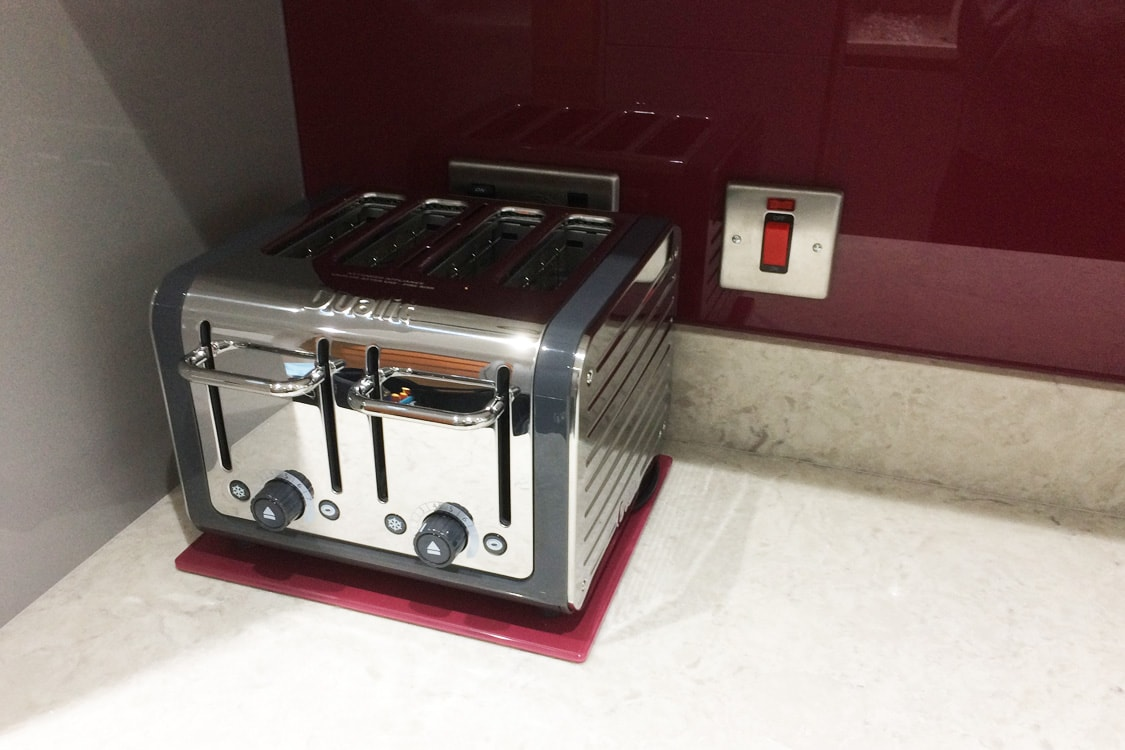 Farrow and Ball Glass toaster stand
