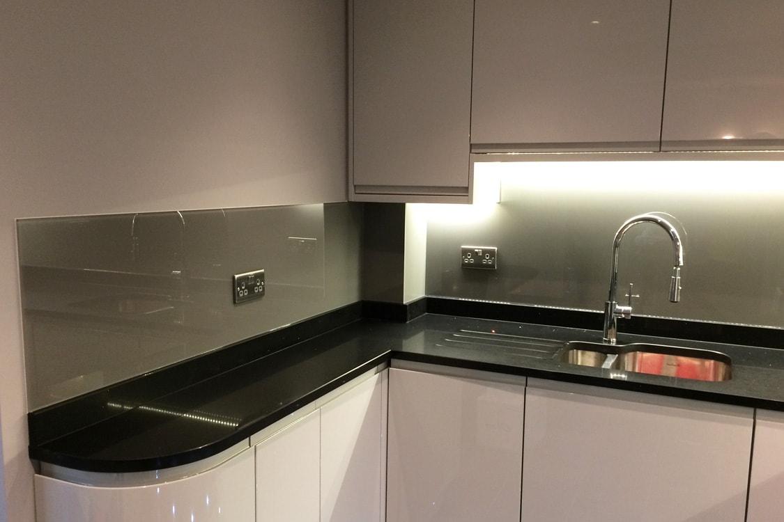 Glass Splashback Close Up in Kitchen