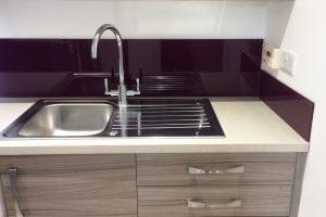 Glass Splashback in Utility Room Off Kitchen