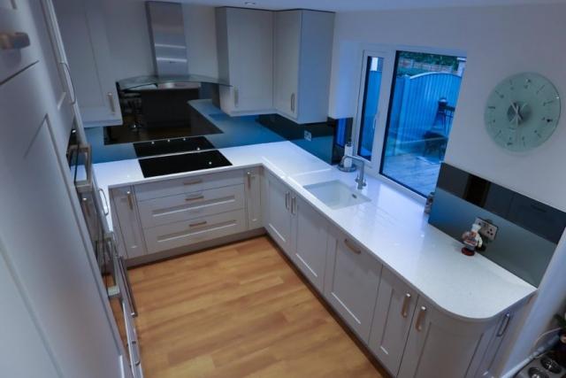 Kitchen Glass Mirrored Splashback