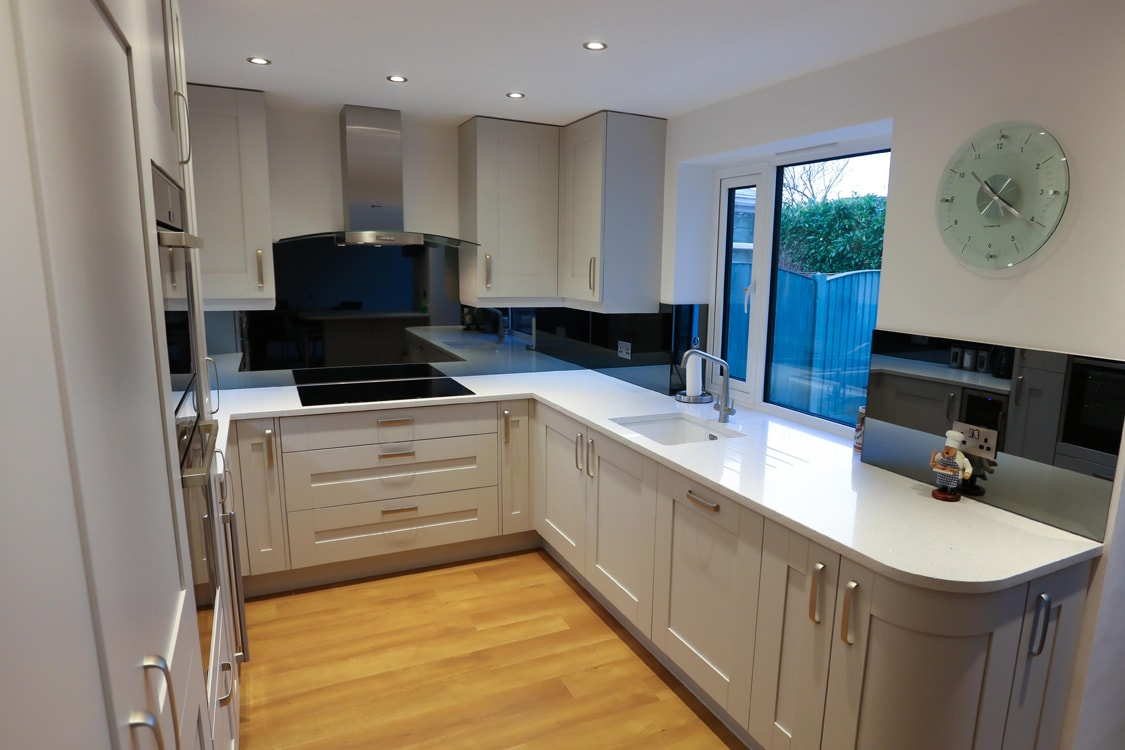 Grey Mirror Glass Splashback