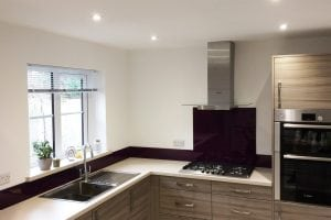 Wide Angle Kitchen Glass Splashback Photo