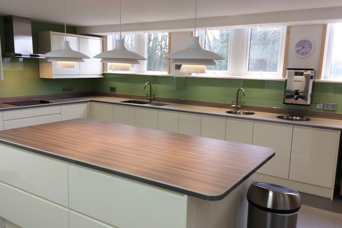 Preston Green & Lime Glass Splashbacks