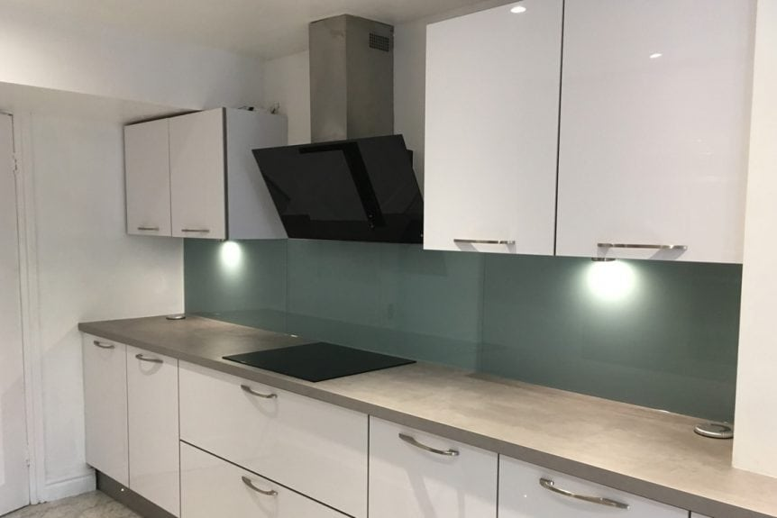 Glass Splashback Fitted Behind a Neff Extractor Fan
