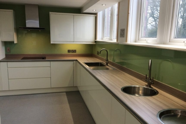 Glass Splashback Fitted in High Legh Cheshire