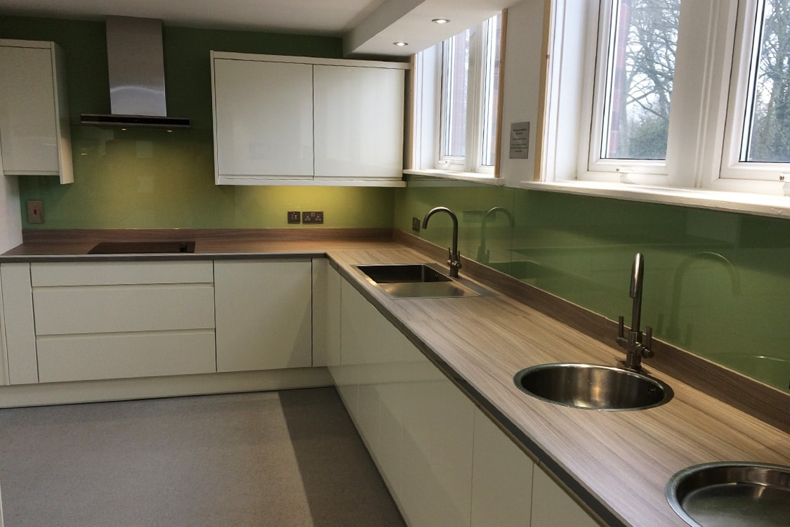 Green & Lime Glass Splashbacks