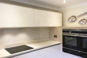 Kitchen Glass Splashback Fitted Behind Hob