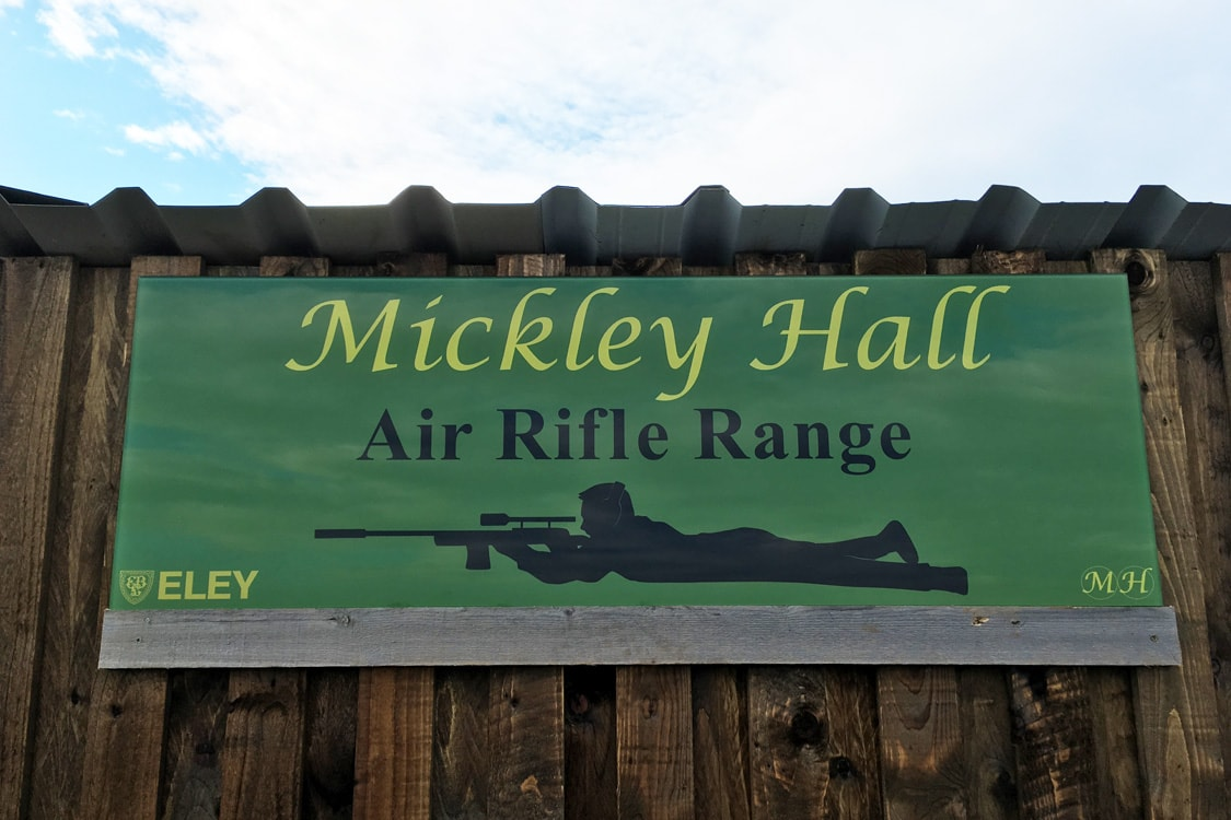 Shooting School Painted Glass Sign