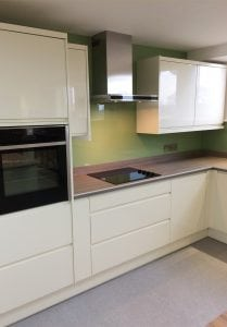 Top Hat Glass Splashback Fitted in High Legh Knutsford Cheshire