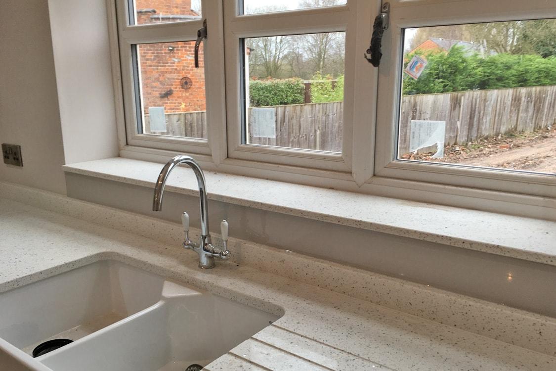 Cornforth White Glass Splashback Fitted in Cheshire