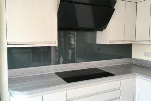 Farrow and Ball Downpipe No.26 Glass Splashback