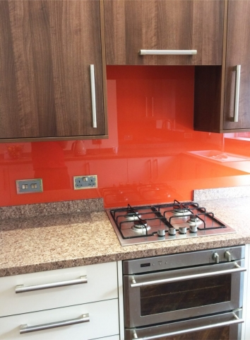 Full Application Glass Splashback Fitted in Cheshire