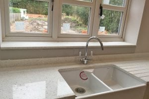 Kitchen Glass Upstand Behind Sink