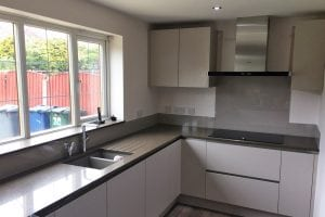Charleston Gray Kitchen Glass Splashback
