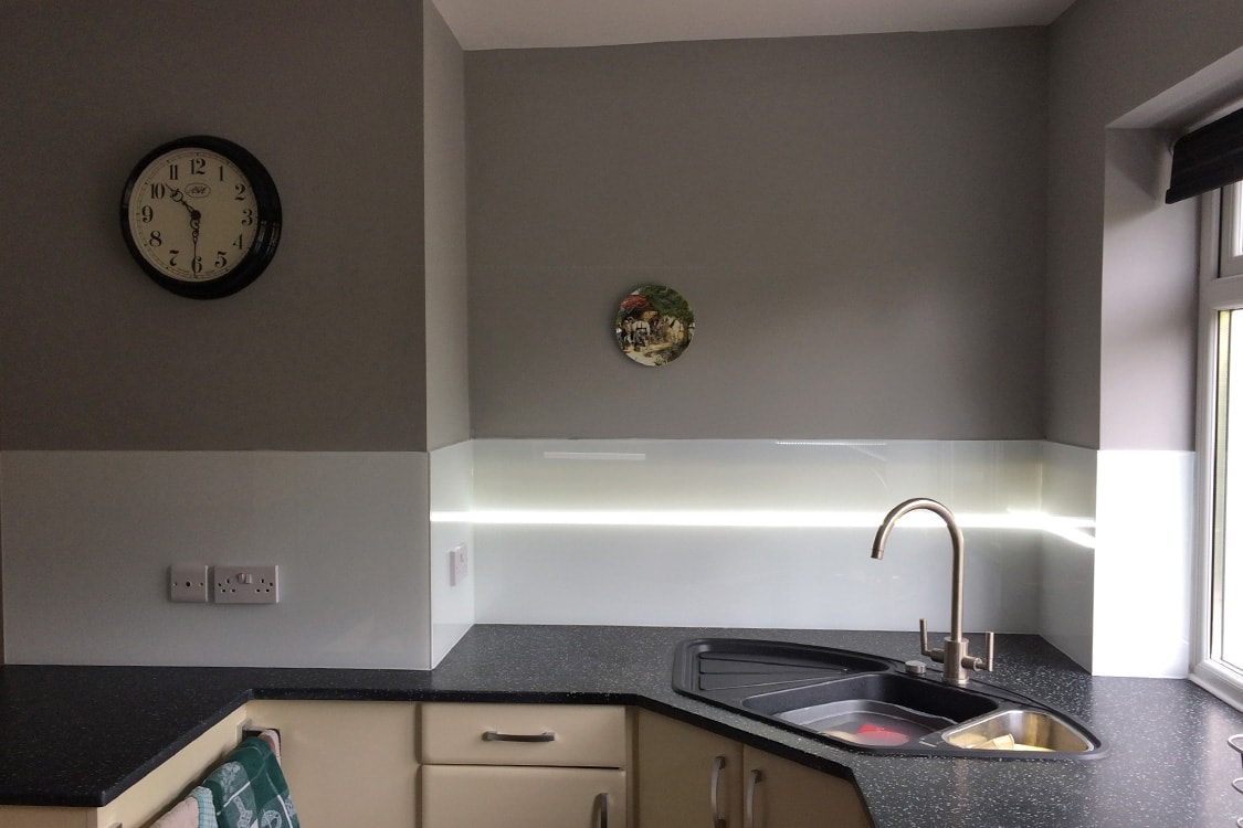 kitchen sink splashback glass splashback kitchen sink with led min 2899