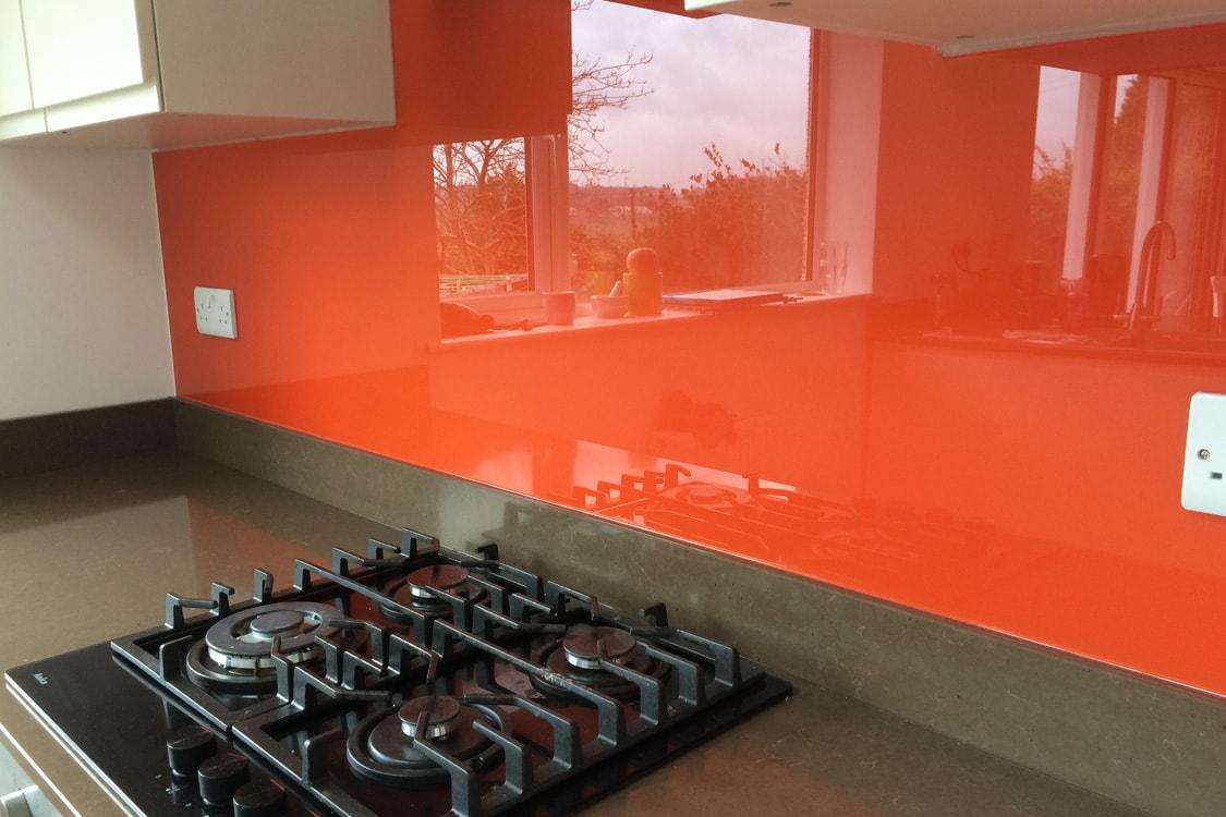 Kitchen Glass Splashback Close Up