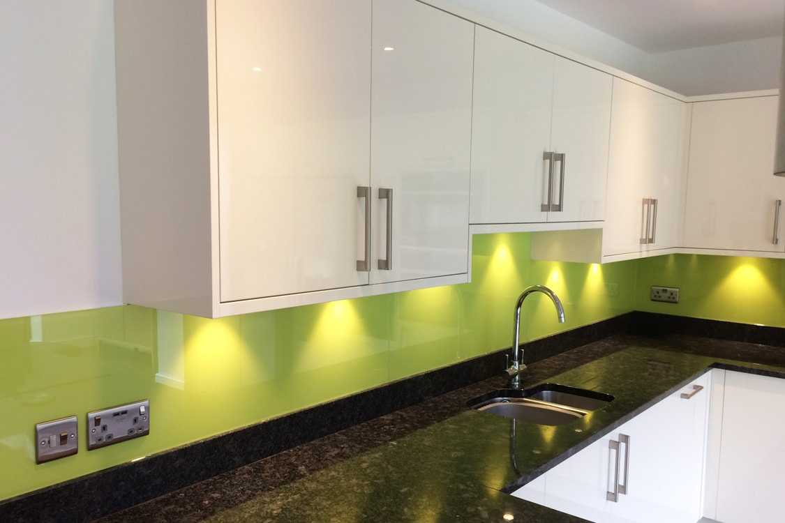 Green and Lime Glass Splashbacks South Manchester Glass Splashbacks