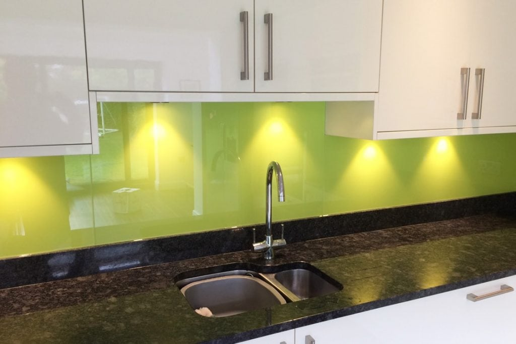 Dulux Luscious Lime Glass Splashback Glass Splashbacks