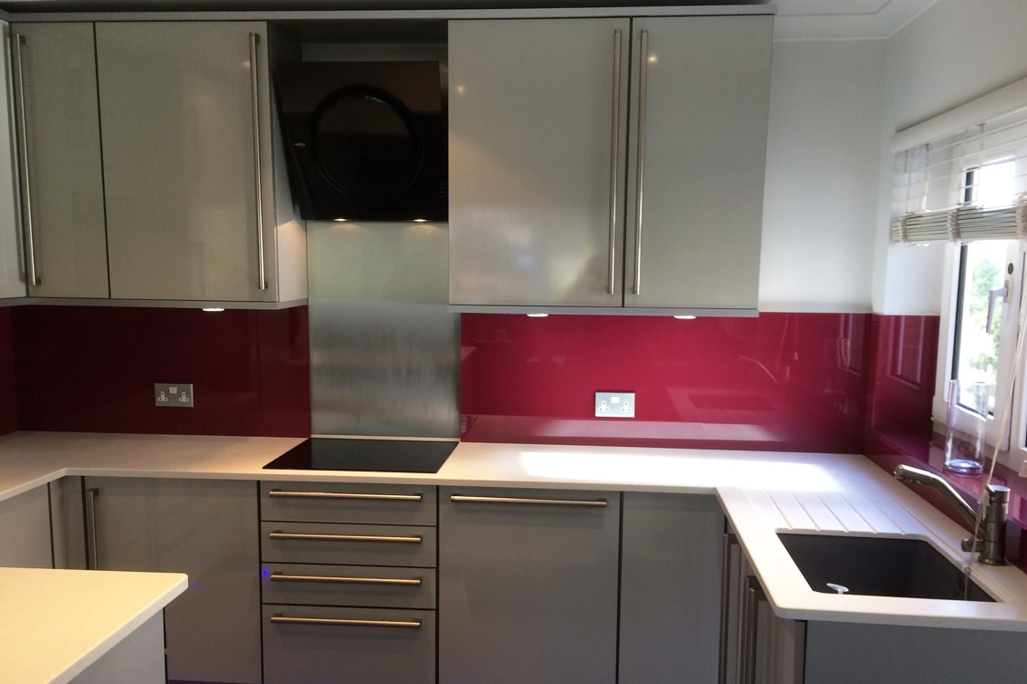 Farrow and Ball Radicchio No.96 Kitchen Glass Splashback