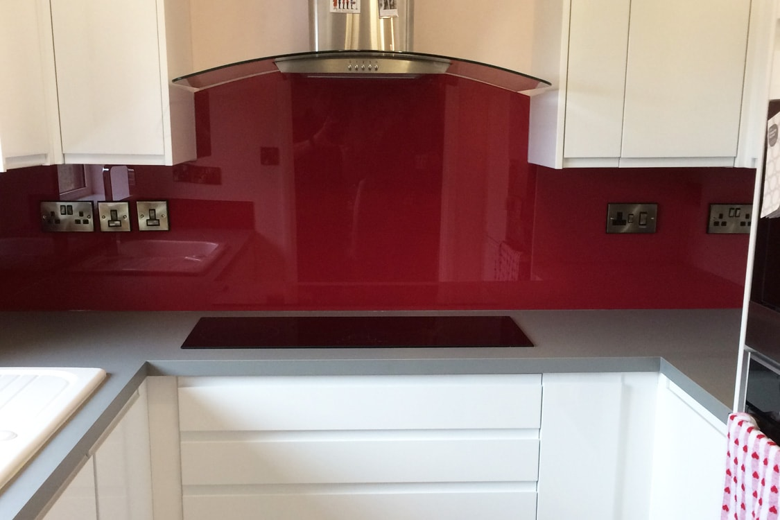 Farrow & Ball Rectory Red No.217 Glass Splashback