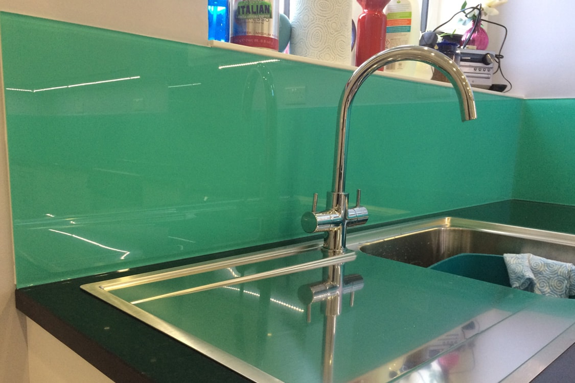 kitchen sink splashback turquoise kitchen glass splashback sink glass 2899