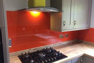 Preston Yellow and Orange Glass Splashbacks
